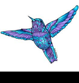 Alaska Wild and Free Blue and Purple Hummingbird Magnet