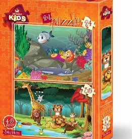D-Toys Underwater and Forest Animals 35 pc