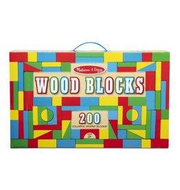 Melissa & Doug 200 Wood Blocks Set