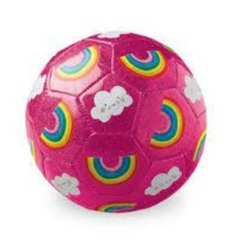 Crocodile Creek Soccer Ball Glitter Rainbow