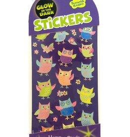 Peaceable Kingdom Glow in the Dark Happy Owls stickers
