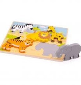 Big Jigs Chunky Lift Out Safari Puzzle