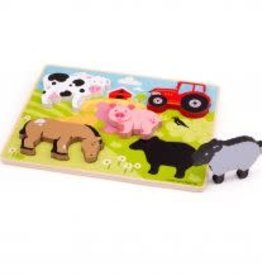 Big Jigs Chunky Lift Out Farm Puzzle