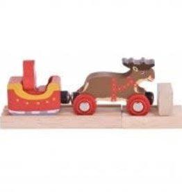 Big Jigs Santa Sleigh with Reindeer
