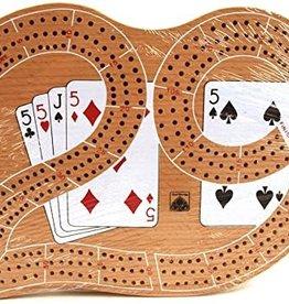 """John Hansen 3 Trk 29"""" Cribbage W/Cards"""