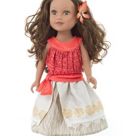 Little Adventures Doll Dress Island Princess with Hair Clip