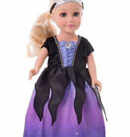 Little Adventures Doll Dress Sea Witch with Soft Crown