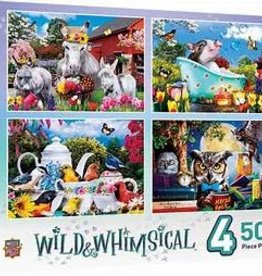 masterpieces Wild & Whimsical 4-Pack 500 pc
