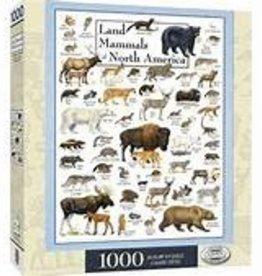 masterpieces Land Mammals of North America w/ Linen 1000 pc