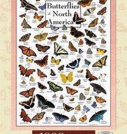 masterpieces Butterflies of North America w/ Linen 1000 pc