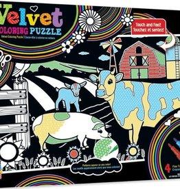 masterpieces Velvet Coloring - Farm 60pc Puzzle