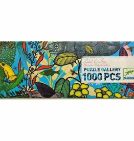 DJECO Land & Sea 1000 pc Gallery Jigsaw Puzzle + Poster