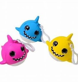 US Toy Co. Squishy Sharks W/ Glitter Eyes Pink