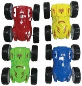 US Toy Co. Friction Flip Car Green and Yellow