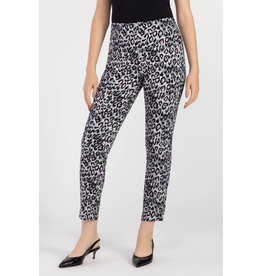 Tribal Pull On Leopard Print Ankle Pant