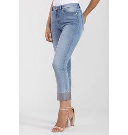 Tribal 5-pocket skinny jean with Rhinestone Hem