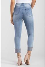Tribal 5-pocket skinny jean w/Rhinestone Hem