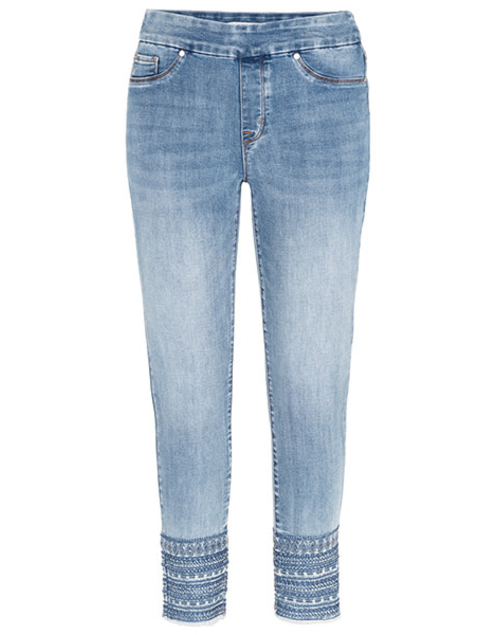 Tribal Pull-On Jegging w/Sparkly Embroidered Hem