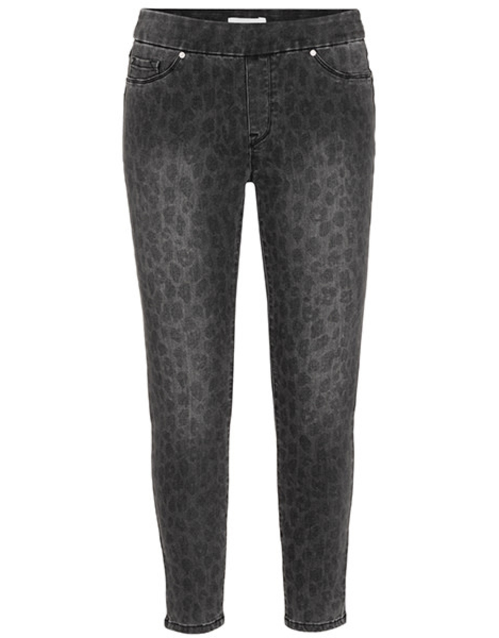 Tribal Leopard Pull-on Denim Ankle Jegging
