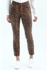 Charlie B Leopard Print Ankle Jean