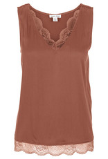 Tribal Cami with Lace at Neck and Hem
