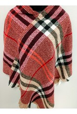 Burgundy light-weight sweater Poncho