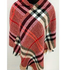 Burgundy light-weight sweater Poncho