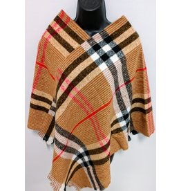 Camel light-weight sweater Poncho