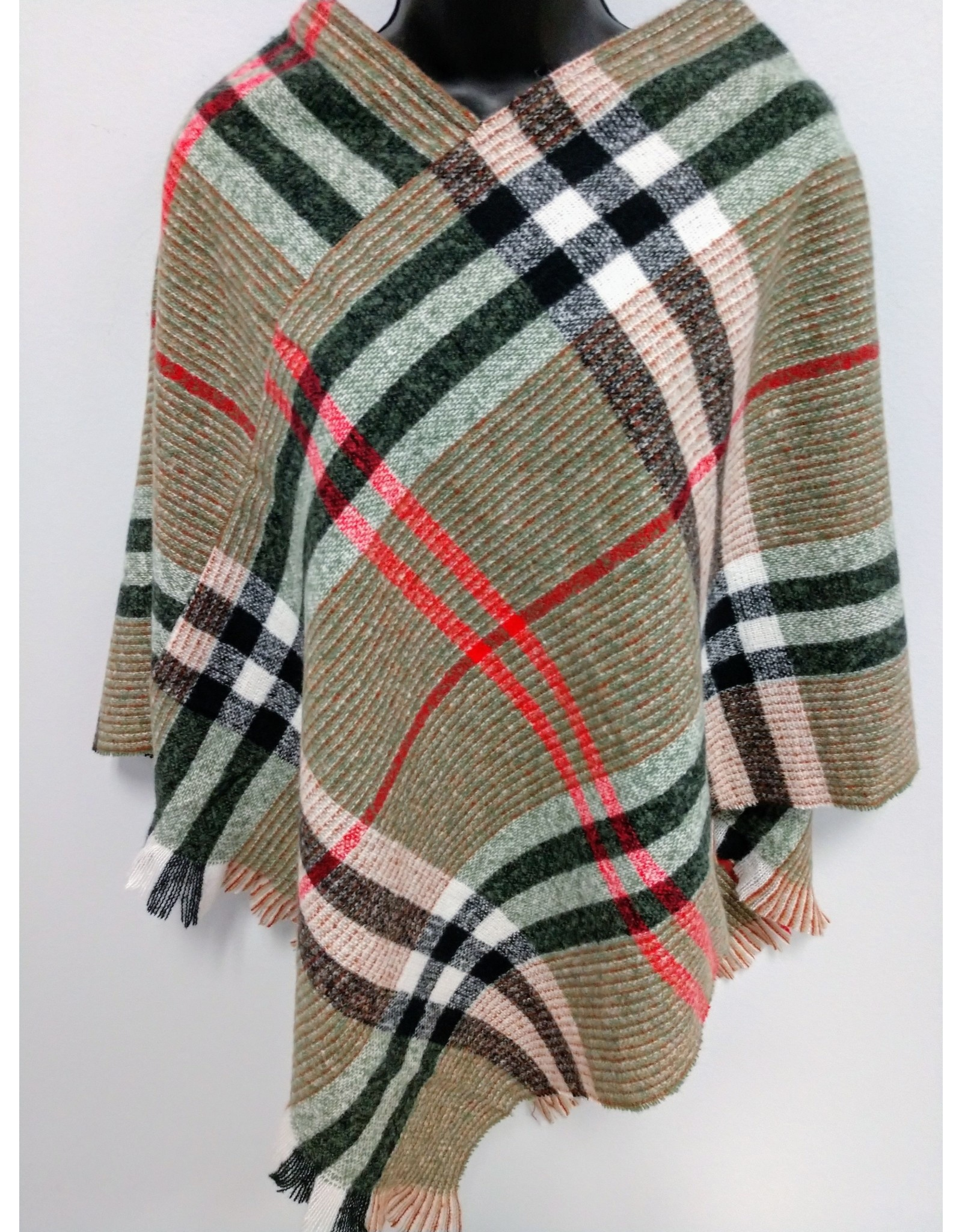 Olive light-weight sweater Poncho