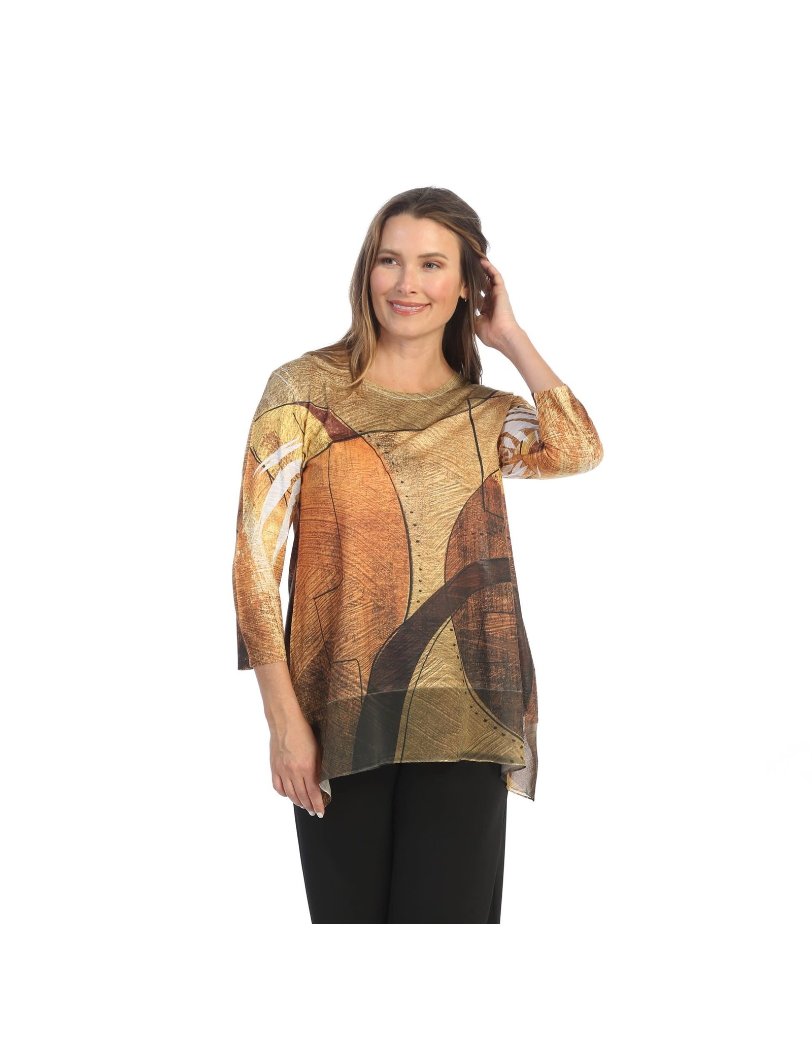 Jess and Jane  Tunic w/Chiffon hem 'Maya'