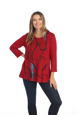 Jess and Jane Brushed Hacci Tunic 'Willow'