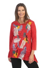 Jess and Jane Mineral Washed Cotton Slub Tunic with Contrast Hem 'Valencia'