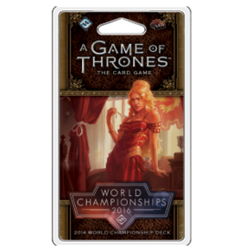 A Game of Thrones LCG (Second Edition): 2016 World Championship Joust Deck