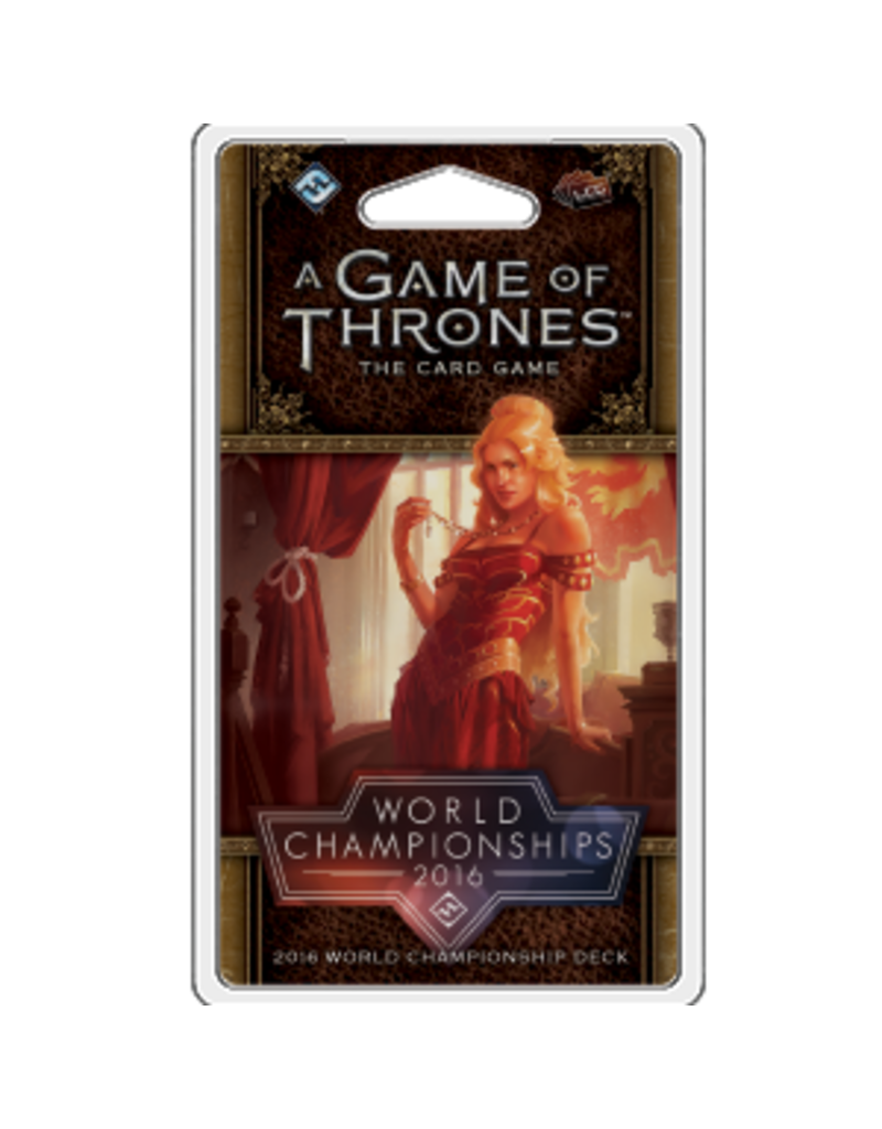 Asmodee - Fantasy Flight Games A Game of Thrones LCG (Second Edition): 2016 World Championship Joust Deck