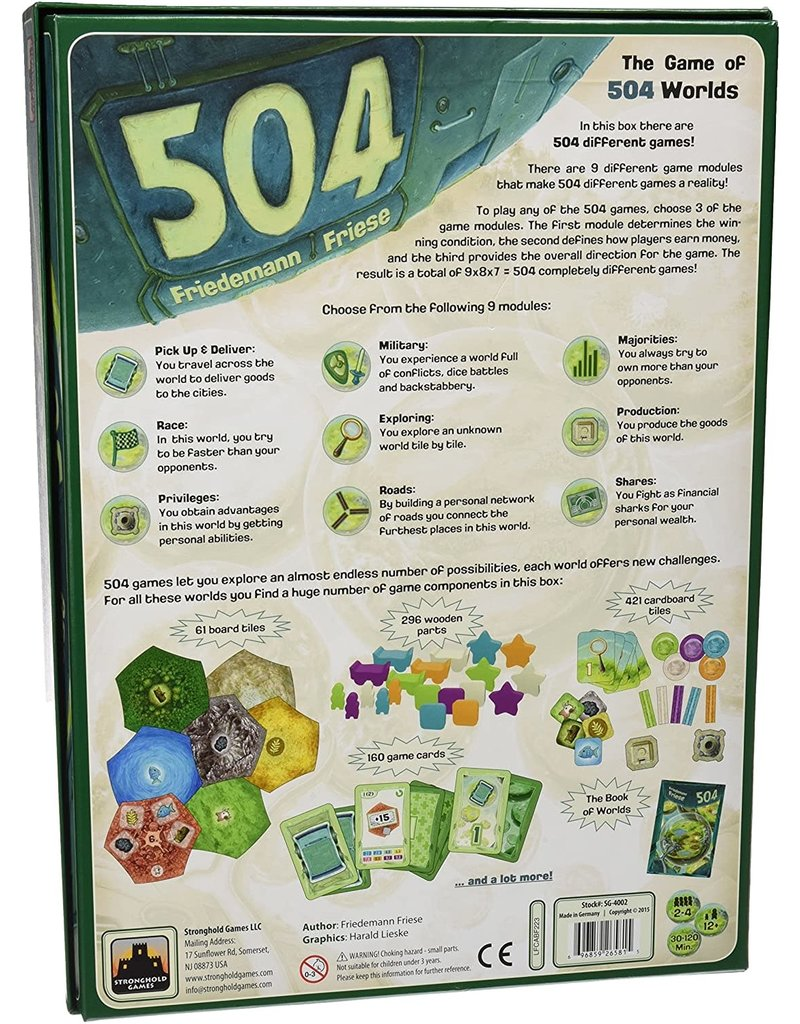 Stronghold Games 504 Board Game