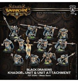 Iron Fang Pikemen/Black Dragons - Khador Unit w/ Unit Attachment (12)