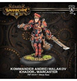 Kommander Andrei Malakov - Khador Warcaster