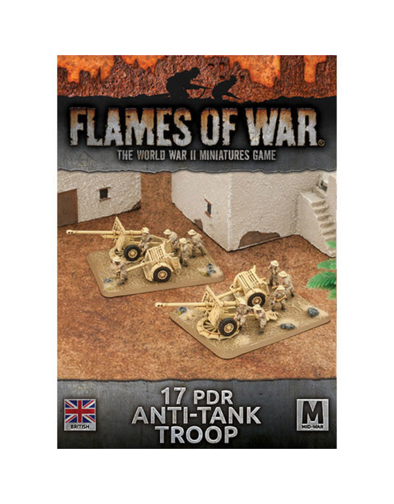 Battlefront Miniatures 17 PDR Anti-Tank Troop (British)