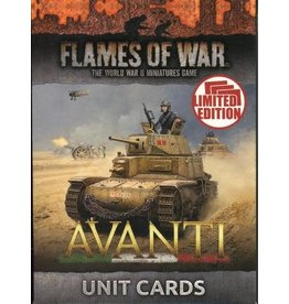 Battlefront Miniatures Avanti Unit Cards (Italian)