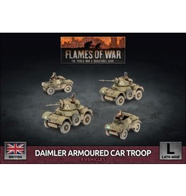 Battlefront Miniatures Daimler Armoured Car Troop (Plastic)