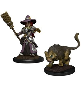 Girl Witch & Cat