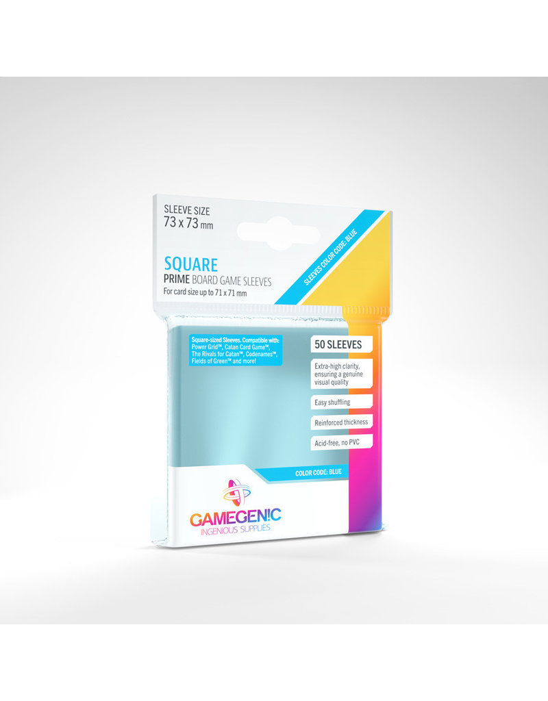 Asmodee Editions - Gamegenic Prime Sleeves: Square (73 x 73 mm)