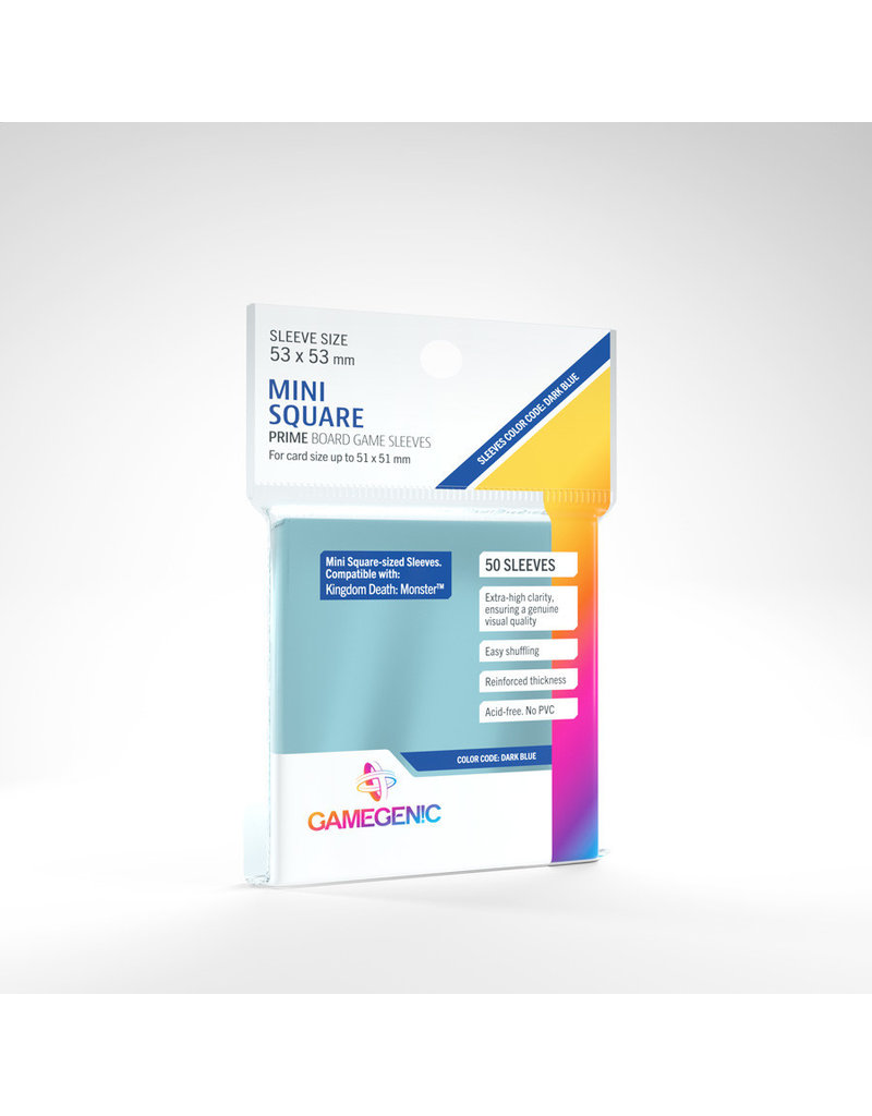 Asmodee Editions - Gamegenic Prime Sleeves: Mini-Square (53 x 53 mm)