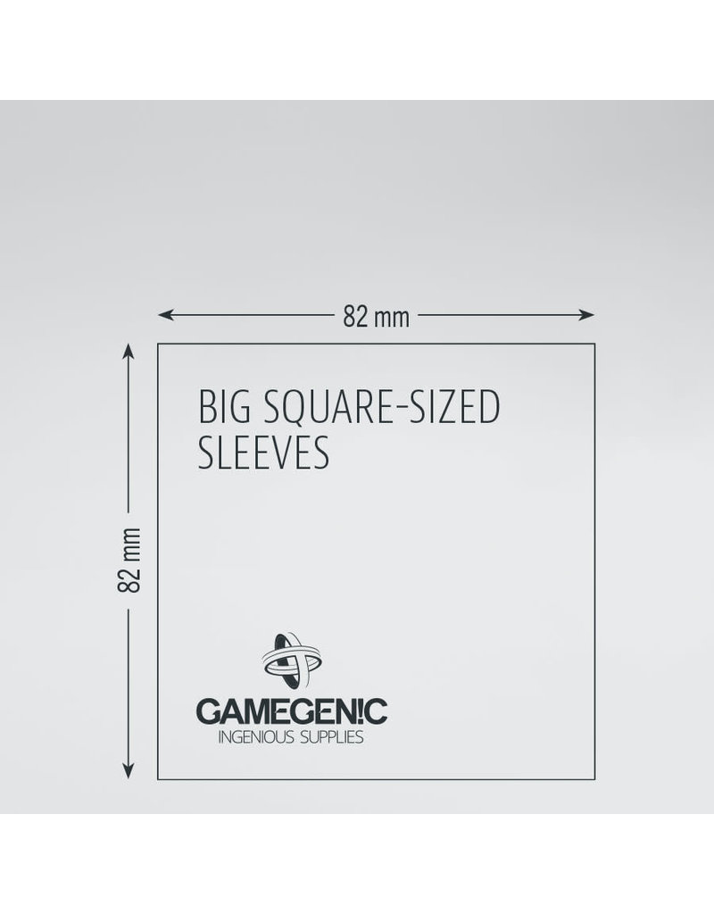 Asmodee Editions - Gamegenic Matte Sleeves: Big Square (82 x 82 mm)