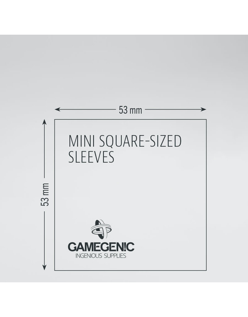 Asmodee Editions - Gamegenic Matte Sleeves: Mini-Square (53 x 53 mm)
