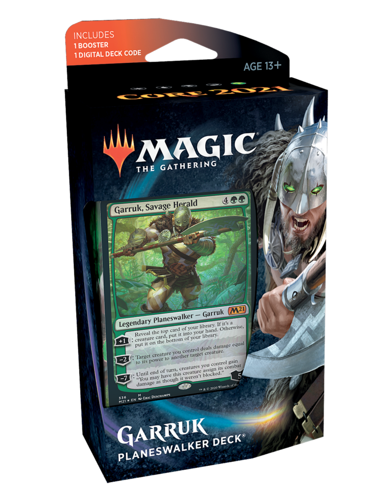 Wizards of the Coast Core 2021: Garruk Planeswalker Deck