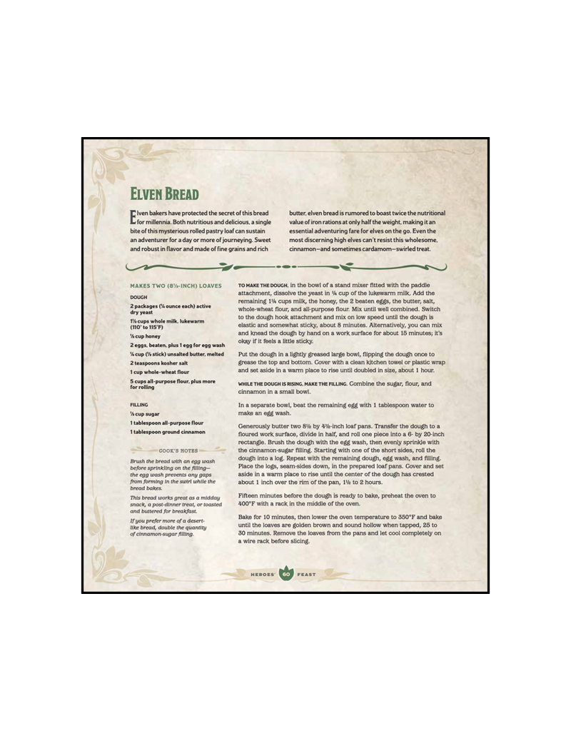Wizards of the Coast D&D: Heroes' Feast: The Official Dungeons & Dragons Cookbook (Hardcover)