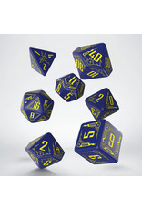 Q-Workshop Galactic Navy and Yellow Dice Set