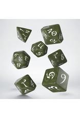 Q-Workshop Classic RPG Dice Olive & White