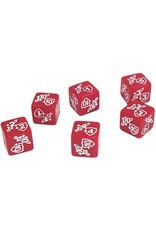 Token Counters Red Flip Dice Counters